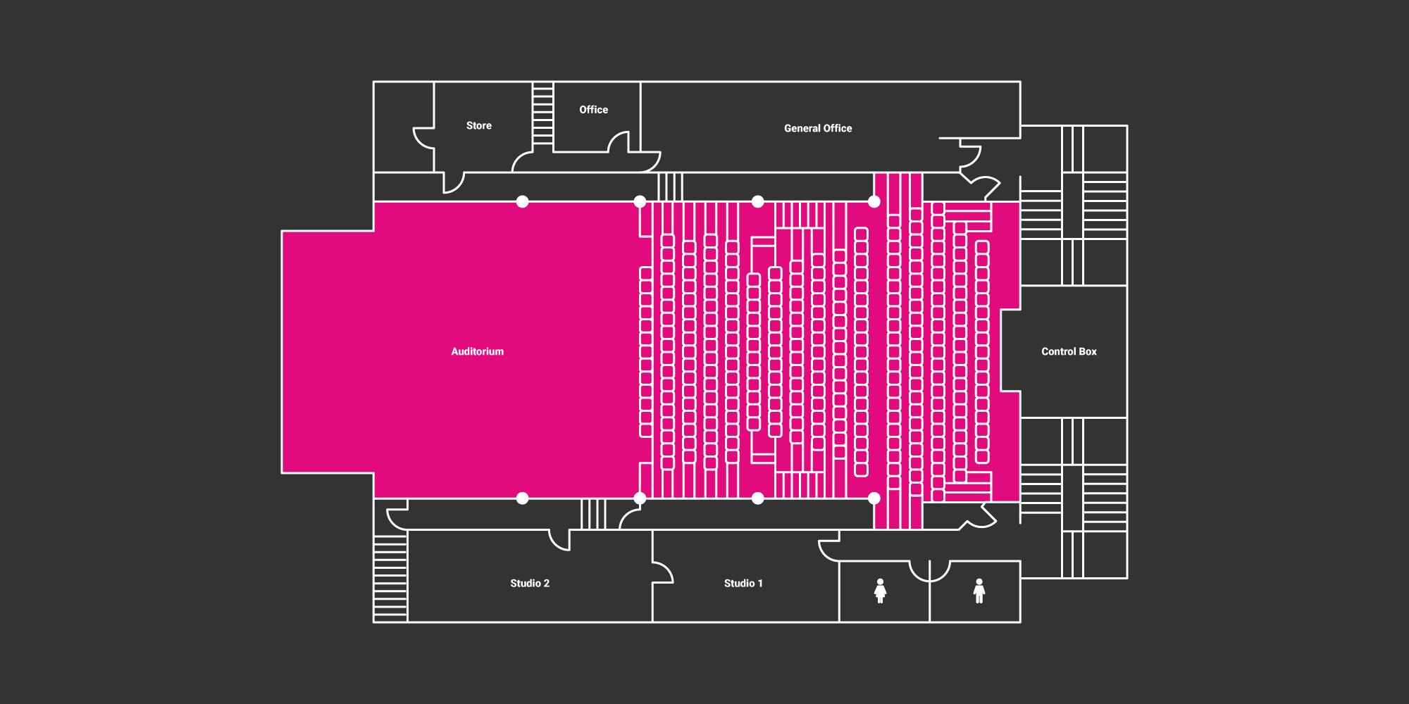 hire auditorium floor plan