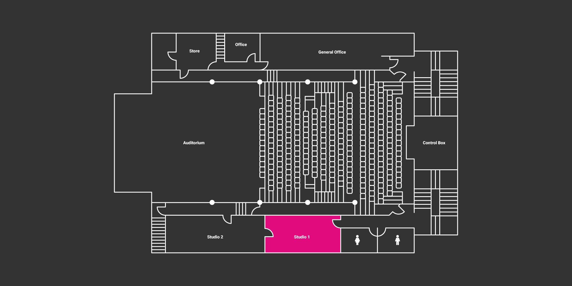hire studio floor plan