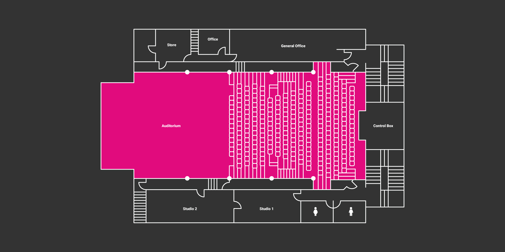 hire auditorium floor plan