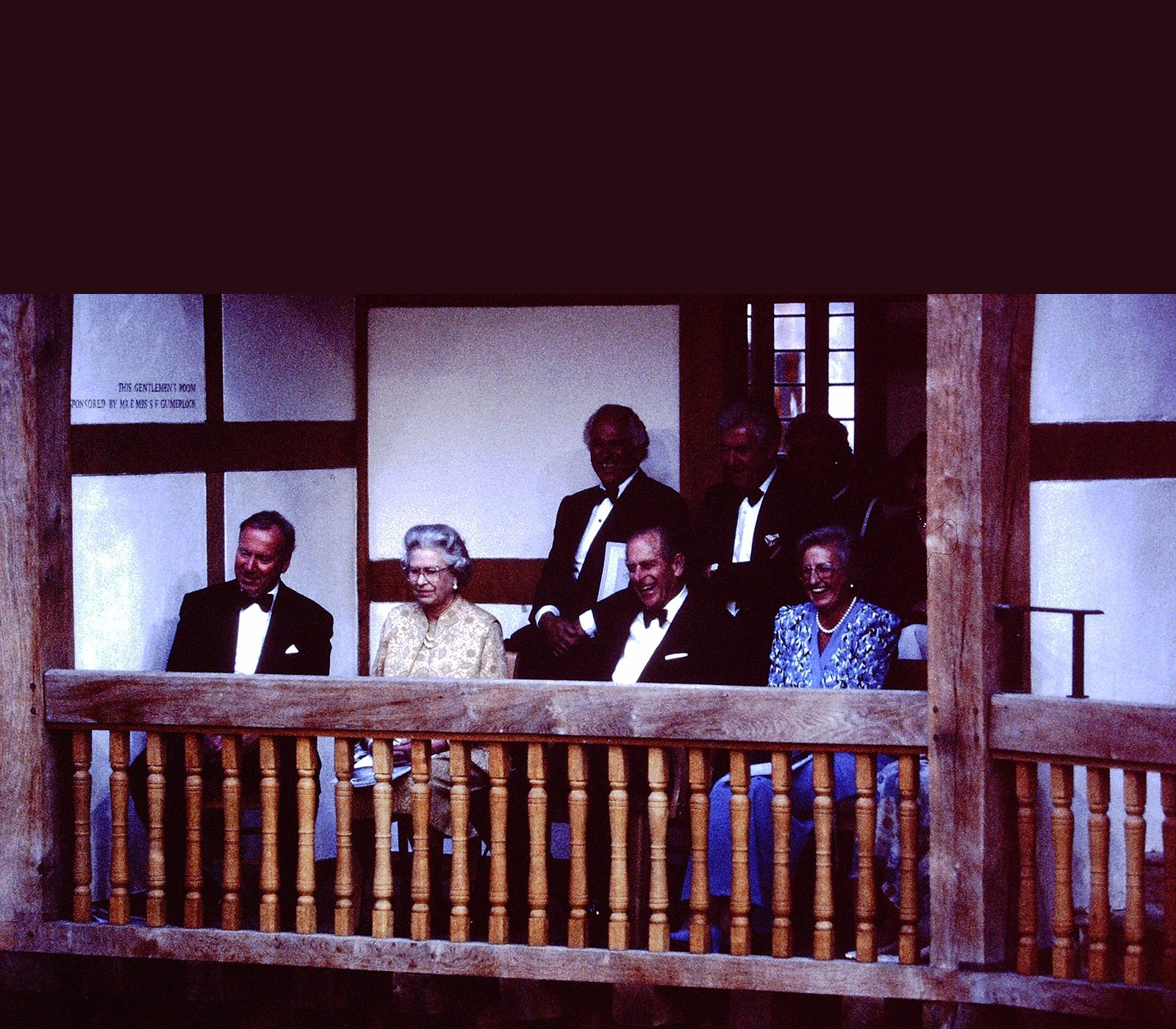Her Majesty The Queen and His Royal Highness The Prince Philip, Duke of Edinburgh attend the opening of Shakespeare's Globe, 12 June 1997. (Photo Credit: Shakespeare's Globe; Photographer: Richard Kalina).